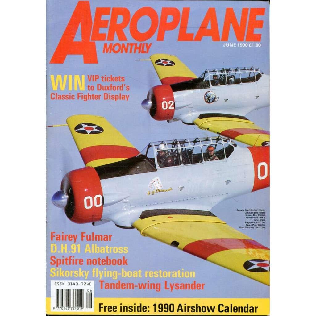 Aeroplane Monthly 6/1990, Vol. 18, No. 6, Issue No. 206 (letectví, letadla)