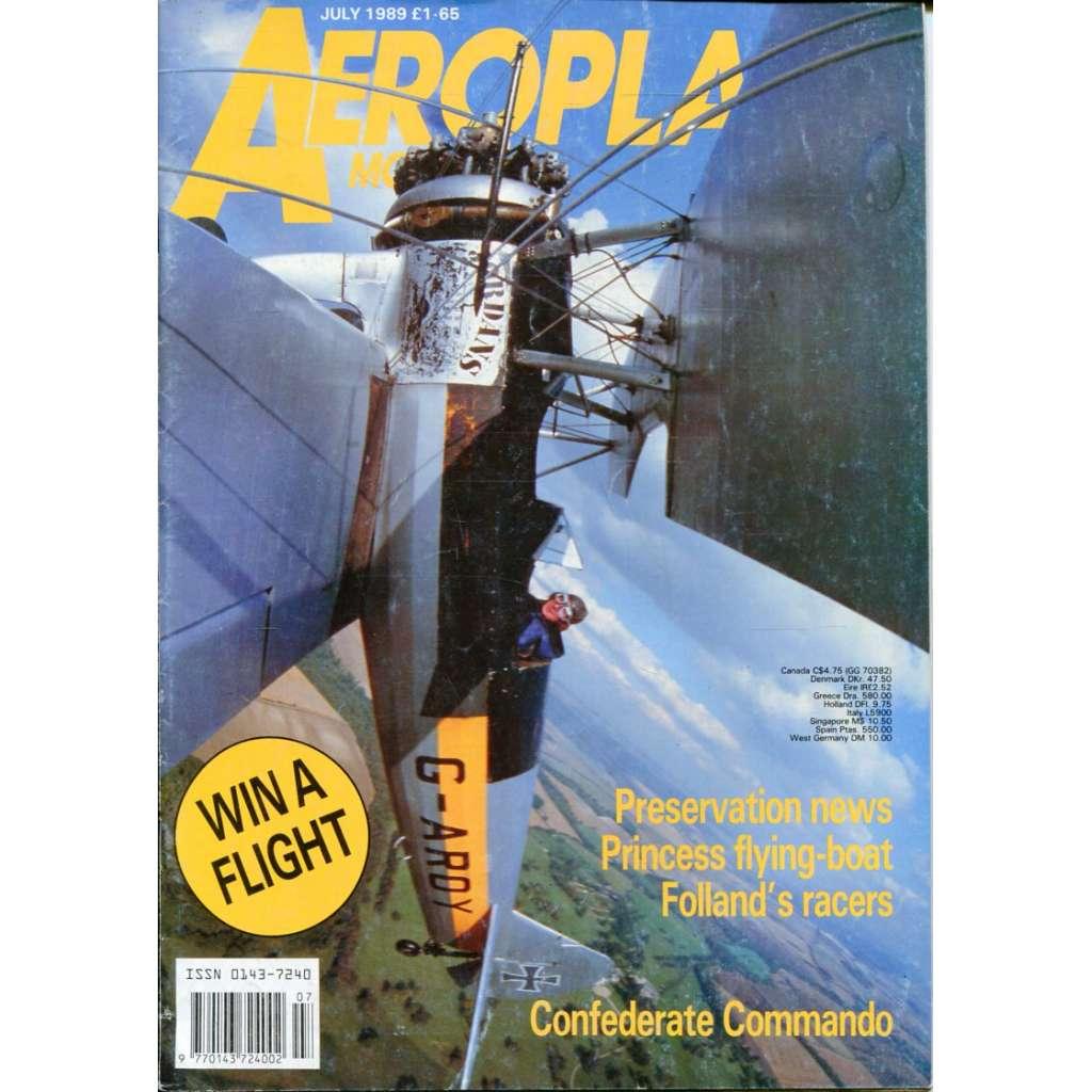 Aeroplane Monthly 7/1989, Vol. 17, No. 7, Issue No. 195 (letectví, letadla)
