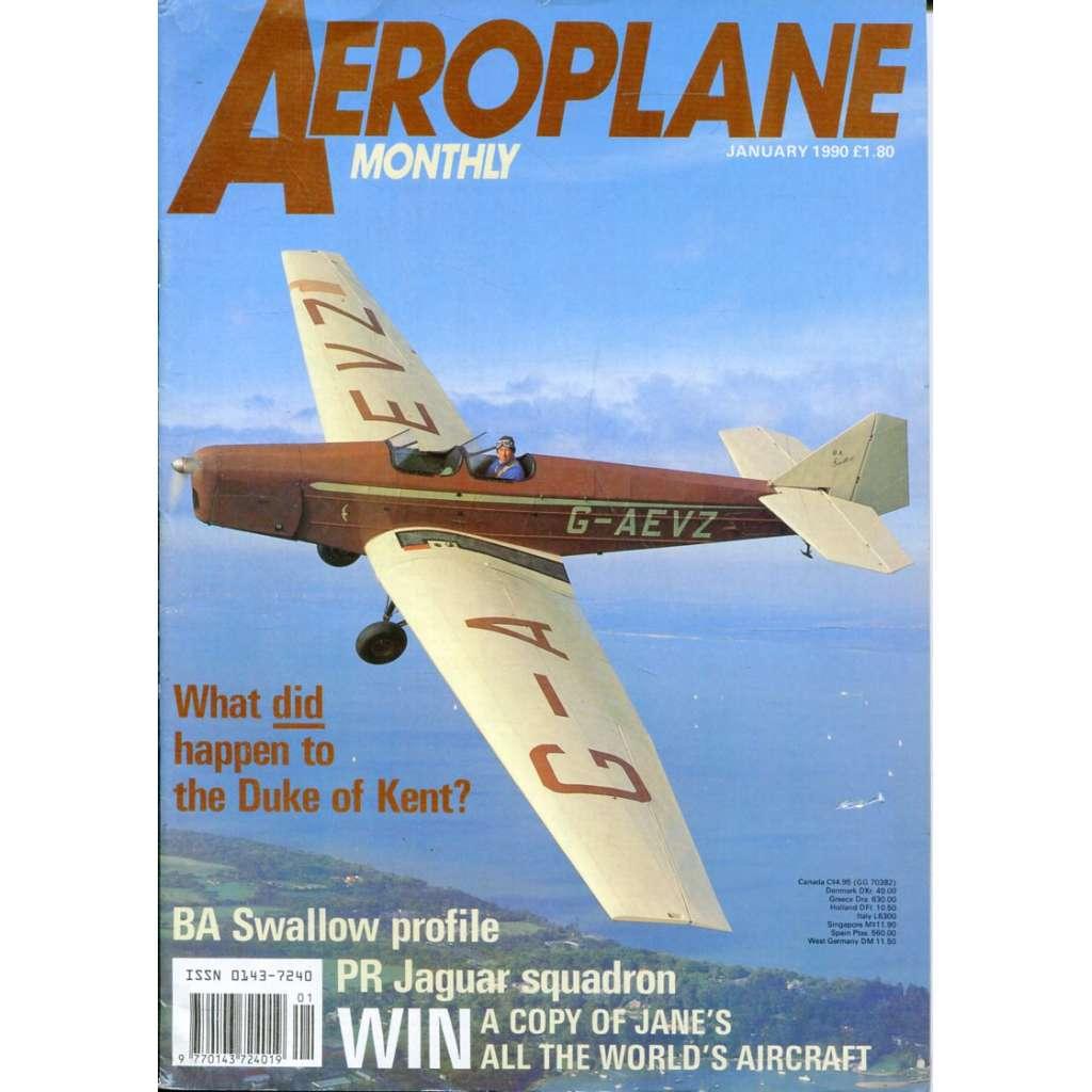 Aeroplane Monthly 1/1990, Vol. 18, No. 1, Issue No. 201 (letectví, letadla)