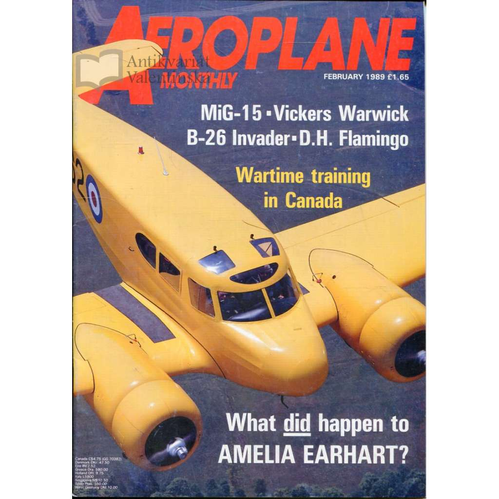 Aeroplane Monthly 2/1989, Vol. 17, No. 2, Issue No. 190 (letectví, letadla)