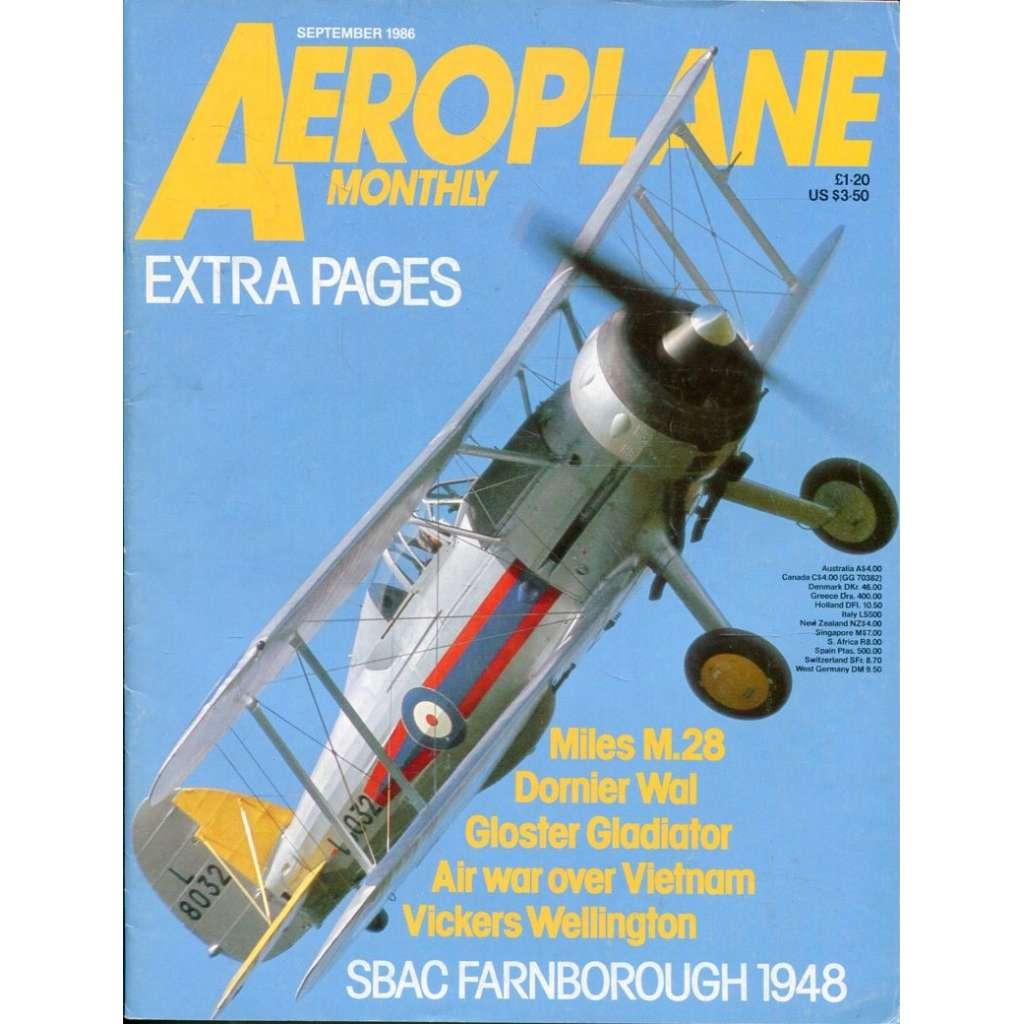 Aeroplane Monthly 9/1986, Vol. 14, No. 9, Issue No. 161 (letectví, letadla)