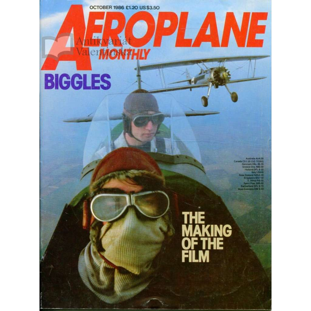 Aeroplane Monthly 10/1986, Vol. 14, No. 10, Issue No. 162 (letectví, letadla)
