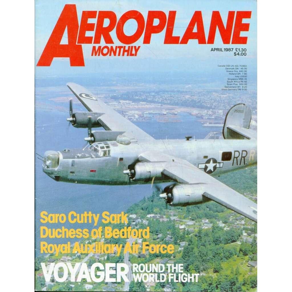 Aeroplane Monthly 4/1987, Vol. 15, No. 4, Issue No. 168 (letectví, letadla)