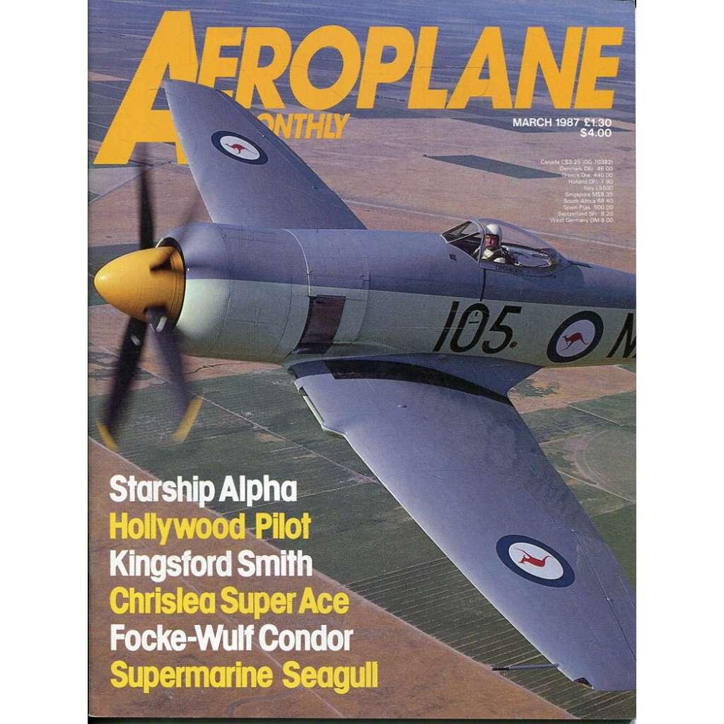 Aeroplane Monthly 3/1987, Vol. 15, No. 3, Issue No. 167 (letectví, letadla)