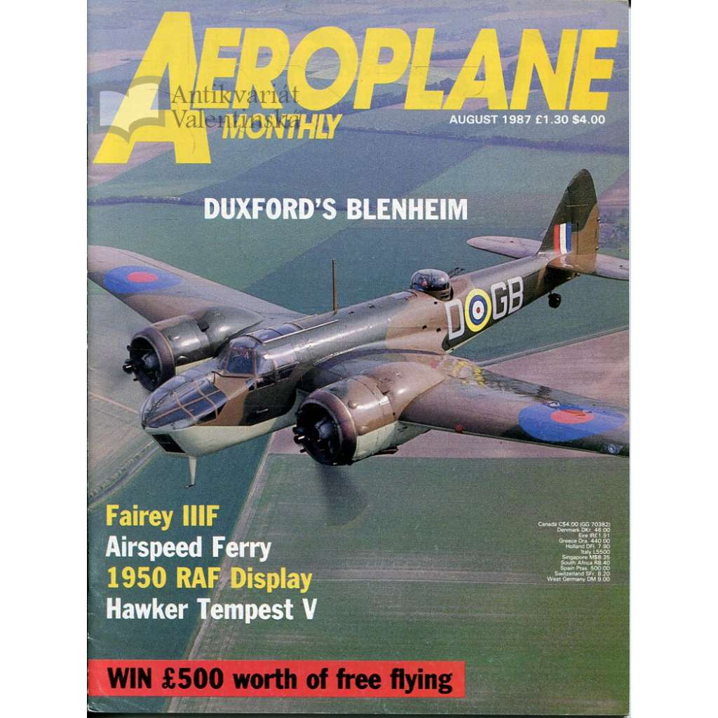 Aeroplane Monthly 8/1987, Vol. 15, No. 8, Issue No. 172 (letectví, letadla)
