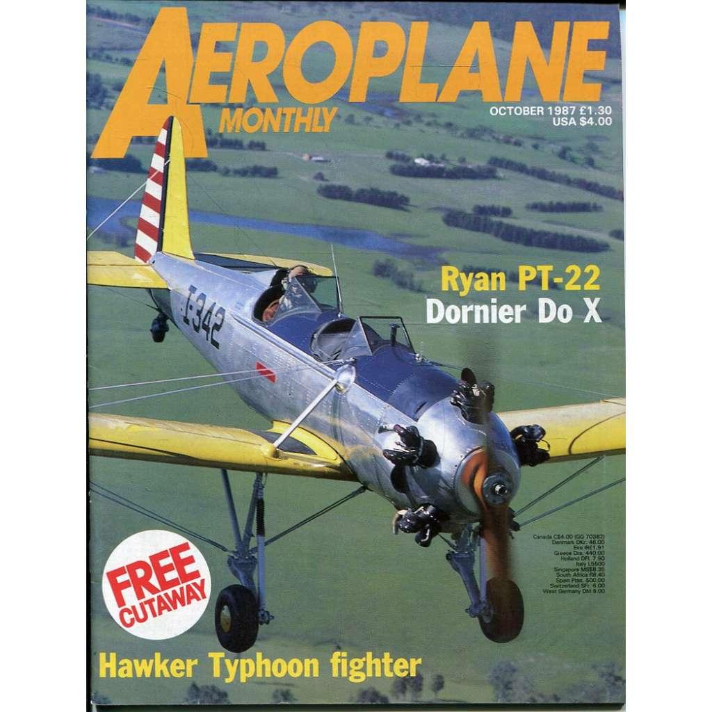 Aeroplane Monthly 10/1987, Vol. 15, No. 10, Issue No. 174 (letectví, letadla)