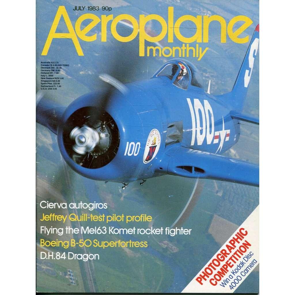 Aeroplane Monthly 7/1983, Vol. 11, No. 7, Issue No. 123 (letectví, letadla)