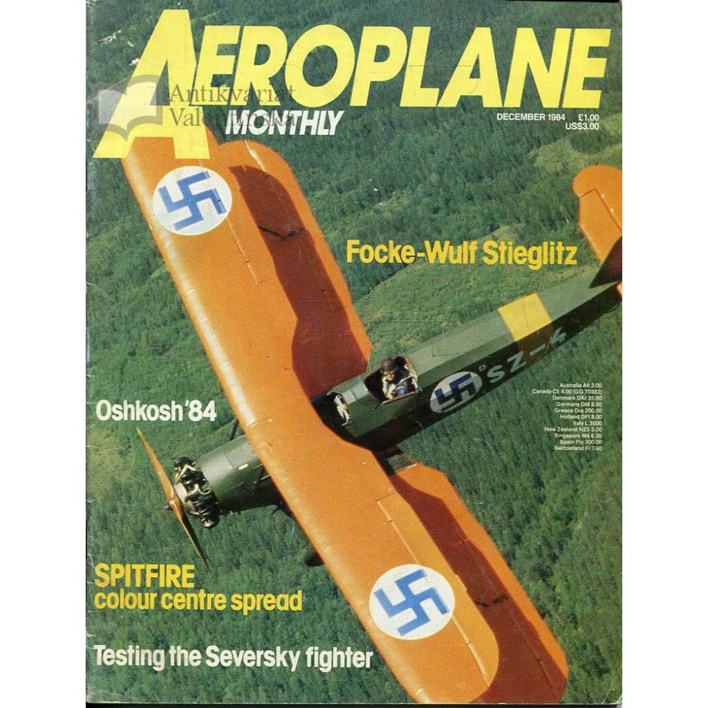 Aeroplane Monthly 12/1984, Vol. 12, No. 12, Issue No. 140 (letectví, letadla)