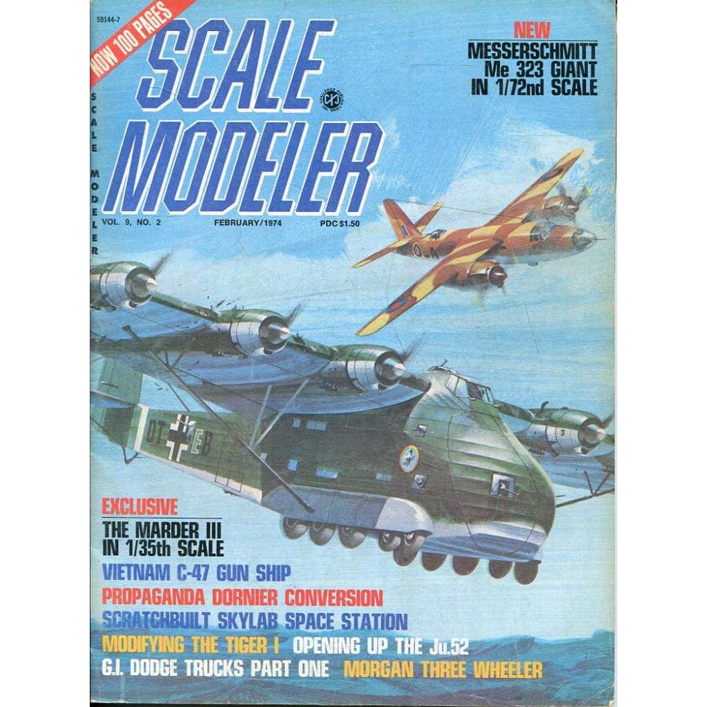 Scale Modeler 2/1974, Vol. 9, No. 2 (letadla, modelářství)