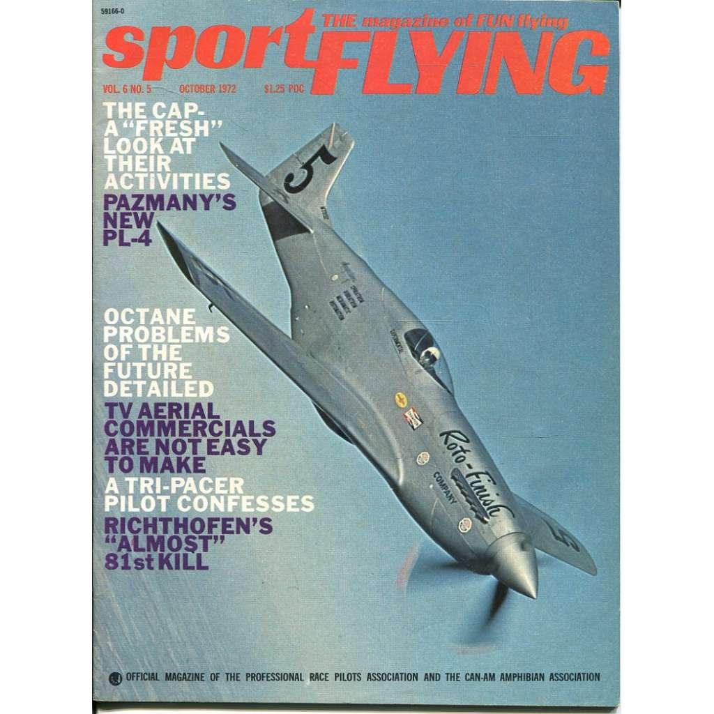 Sport Flying 10/1972, Vol. 6, No. 5 (letadla, letectví)
