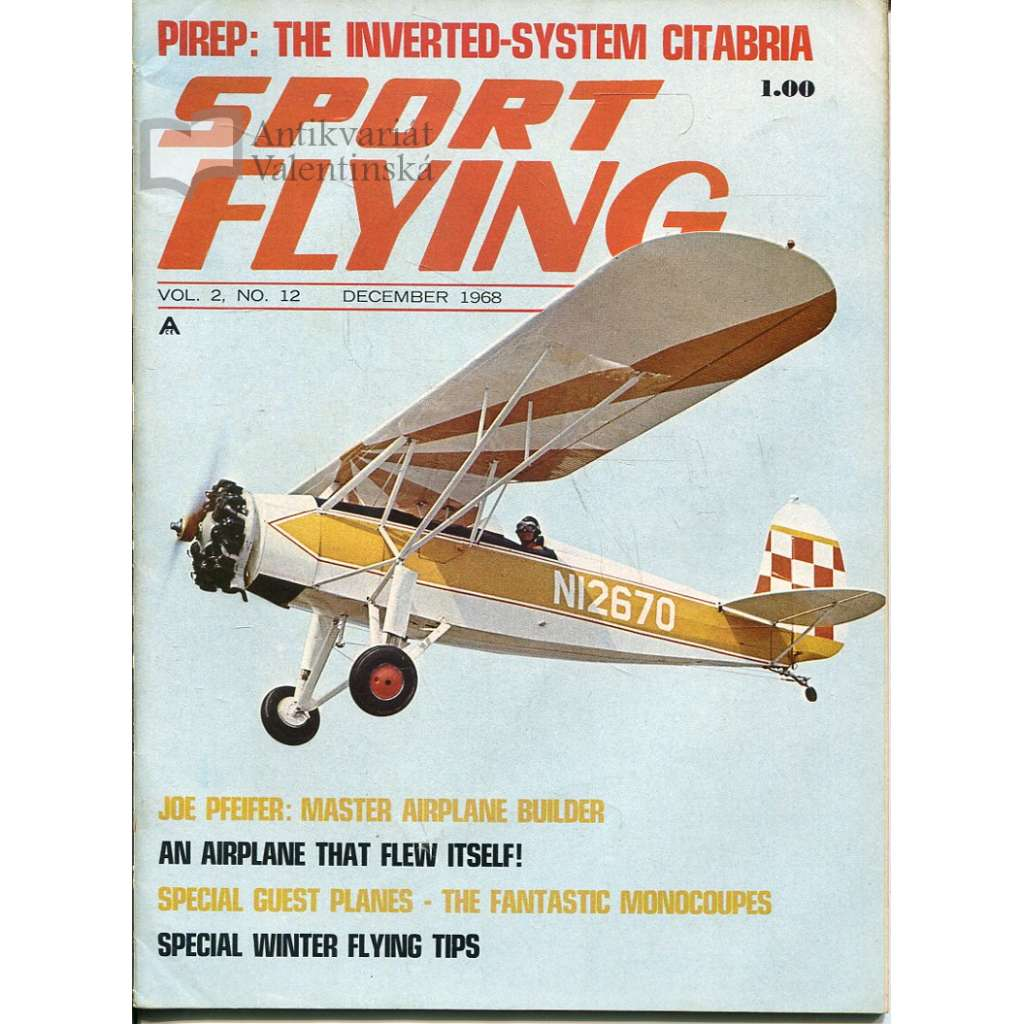 Sport Flying 12/1968, Vol. 2, No. 12 (letadla, letectví)