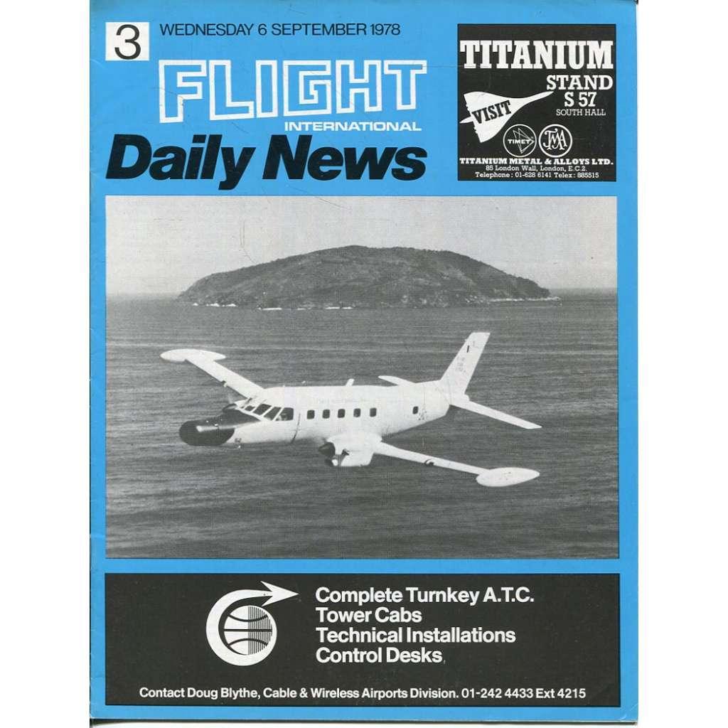 Flight International Daily News 6/9/1978 (letectví, Farnborough Airshow)