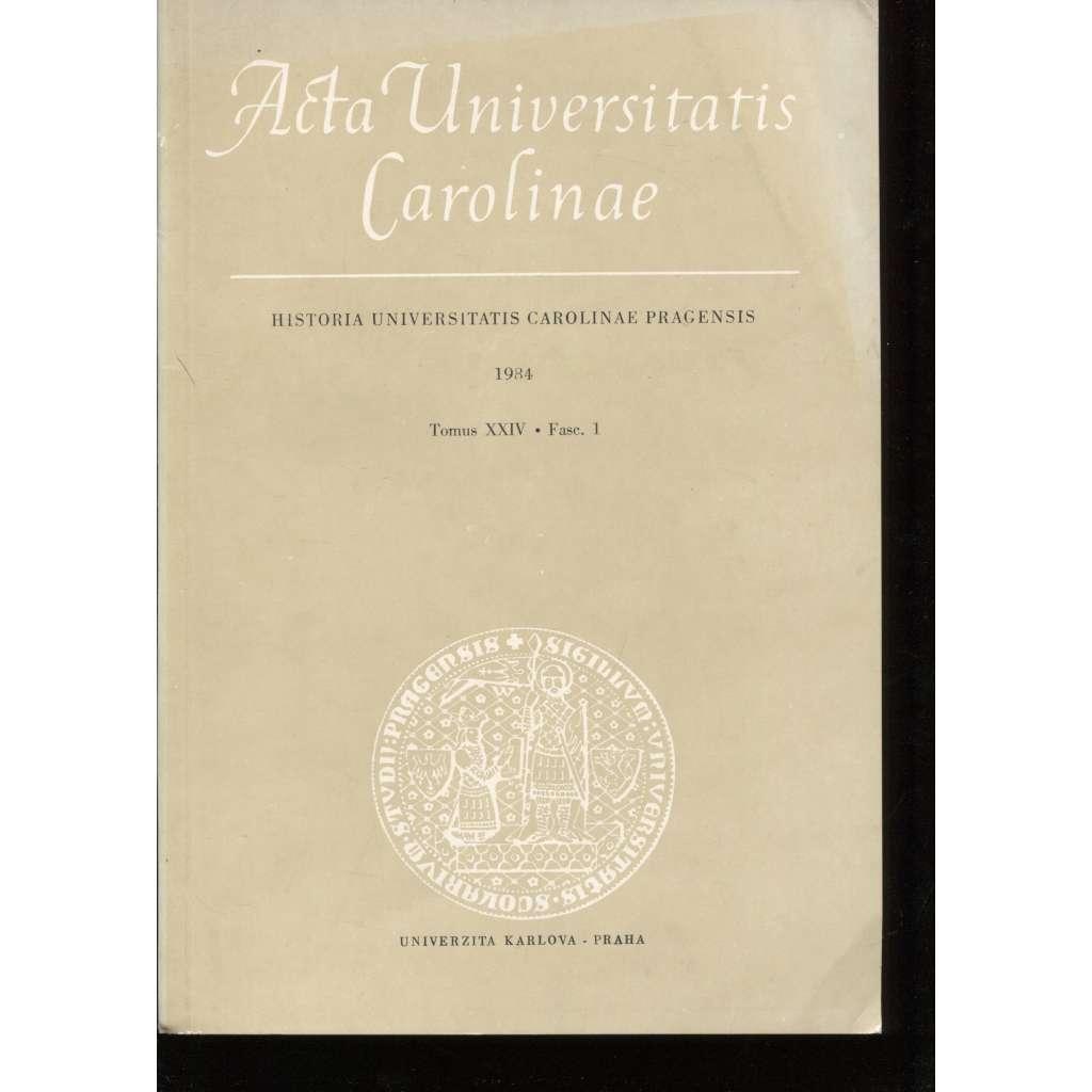 Příspěvky k dějinám Univerzity Karlovy (Acta Universitatis Carolinae 1984)