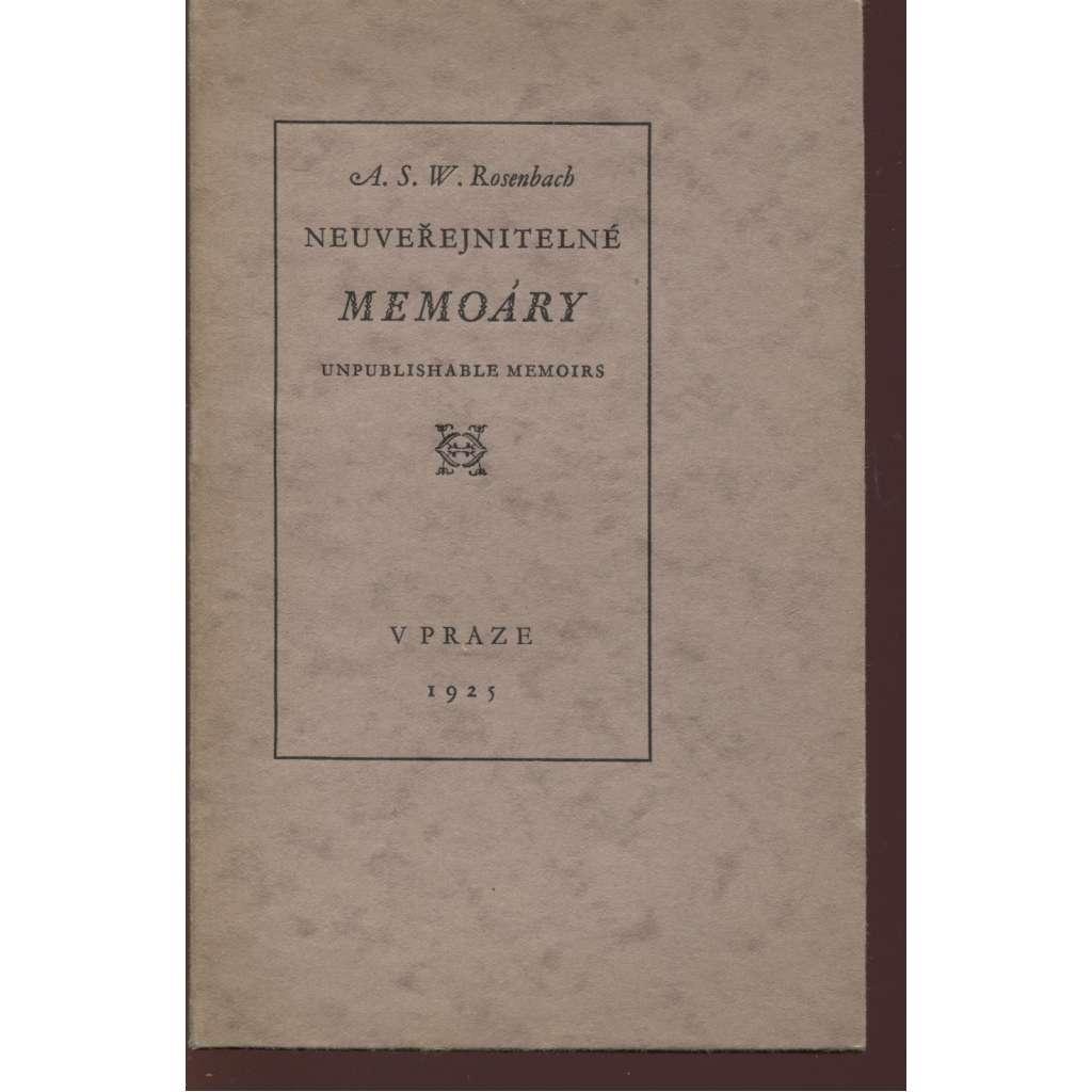 Neuveřejnitelné memoáry (podpis M. Kaláb)