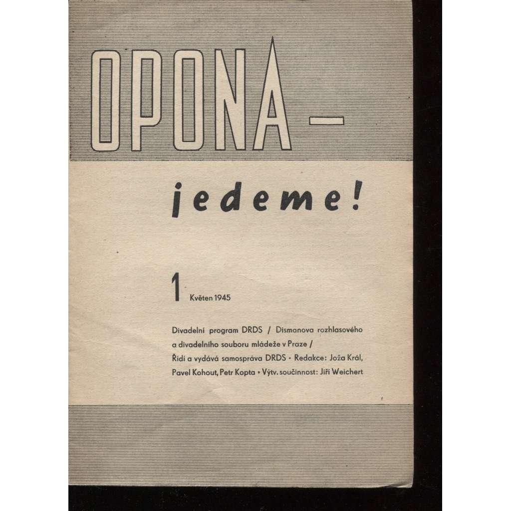 Opona-jedeme! Sešity 1-8 (7 sešitů, chybí č. 6) - 1945