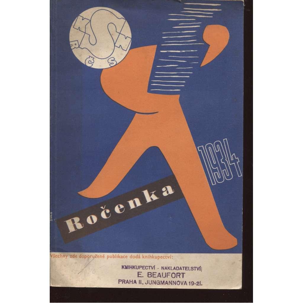 Ročenka Rozhledů po literatuře a umění 1934 (ilustrace Zdeněk Burian)