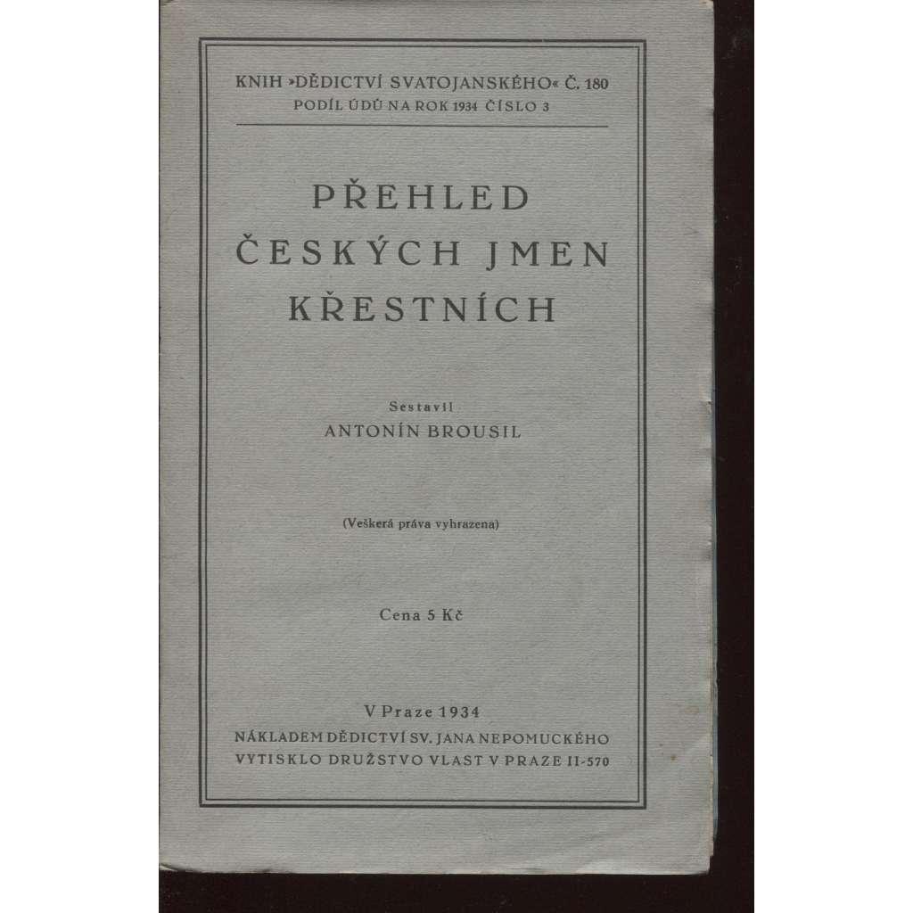 Přehled českých jmen křestních