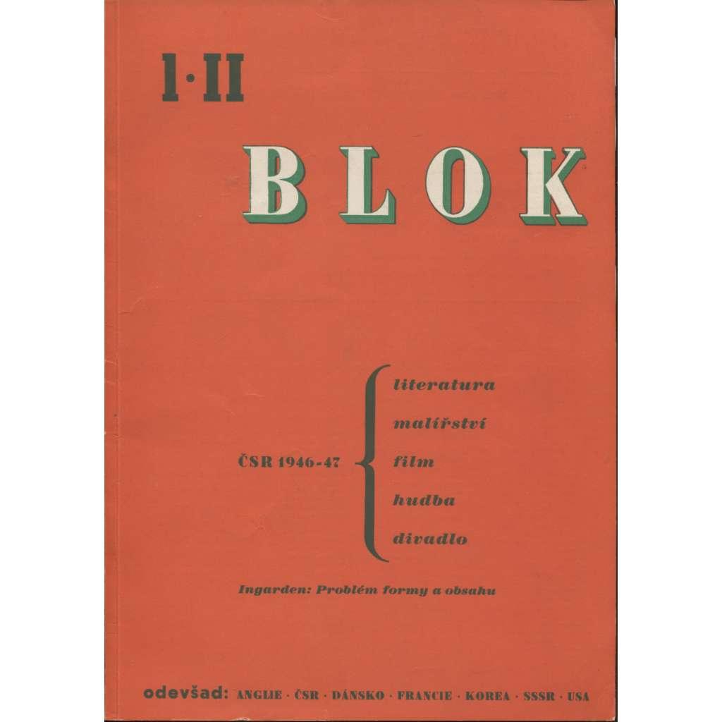 Blok - časopis pro umění, roč. II., číslo 1/1947. ČSR 1946-47. Ingarden: Problém formy a obsahu