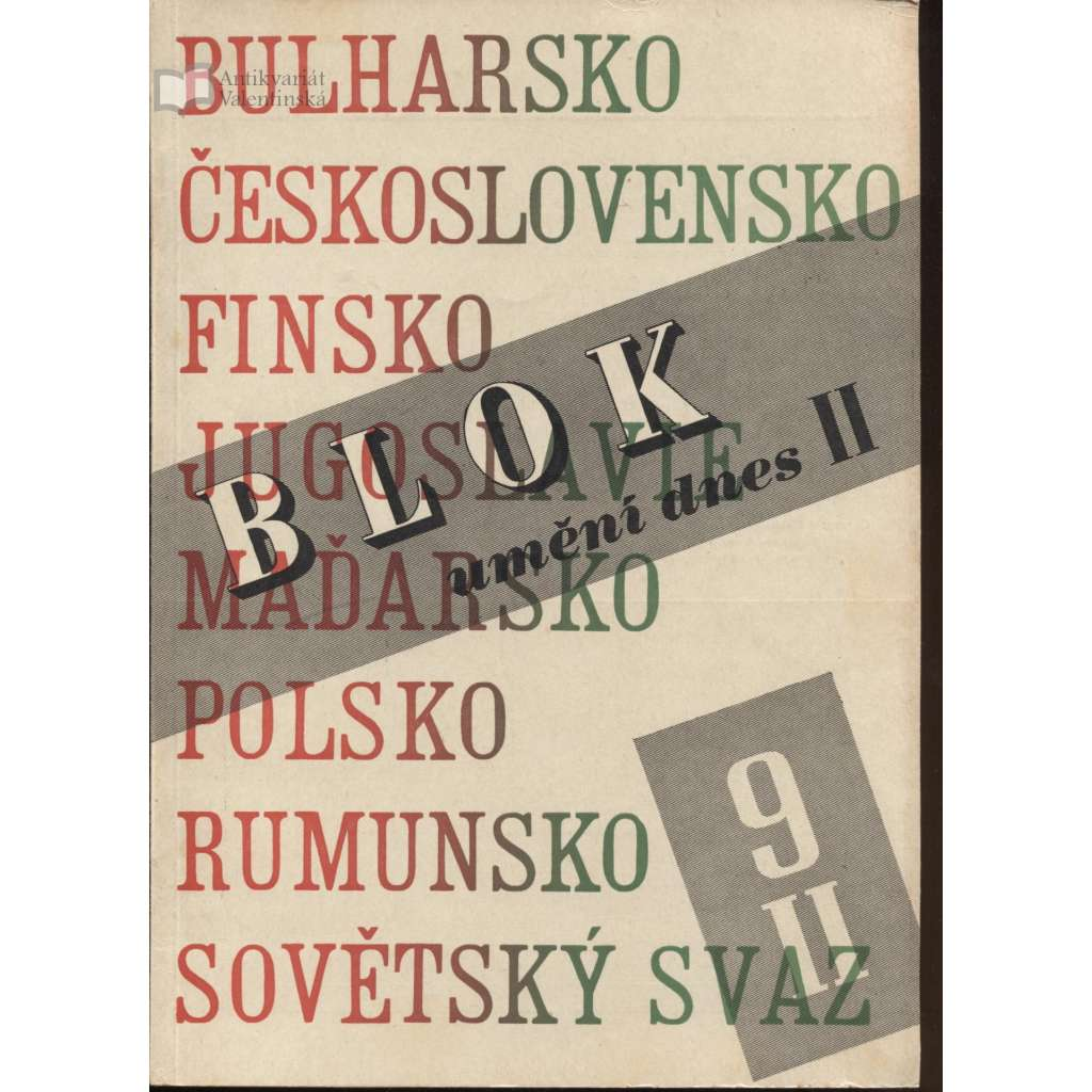 Blok - časopis pro umění, roč. II., číslo 9/1948. Umění dnes II.