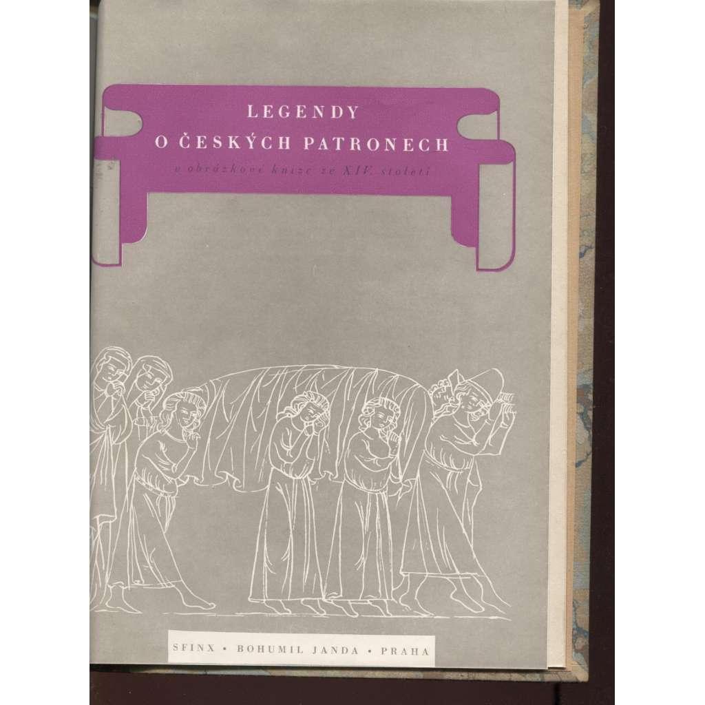Legendy o českých patronech v obrázkové knize ze XIV. století