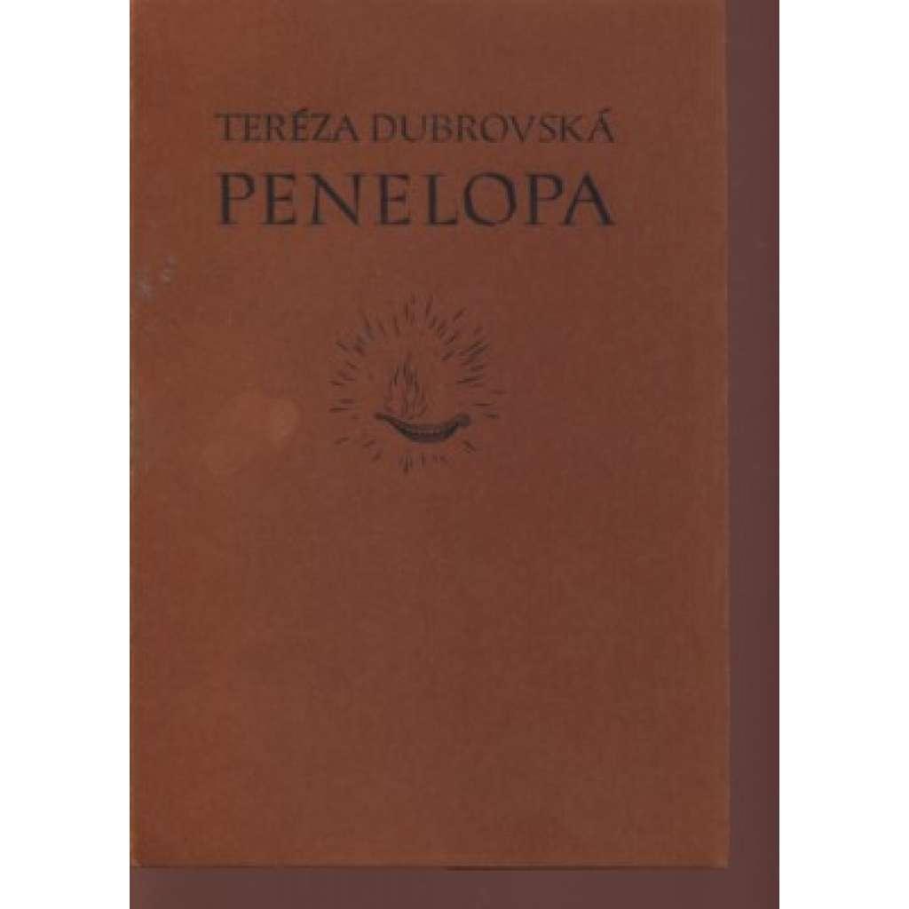 Penelopa (typografie Vojtěch Preissig, 1x grafika T. F. Šimon)