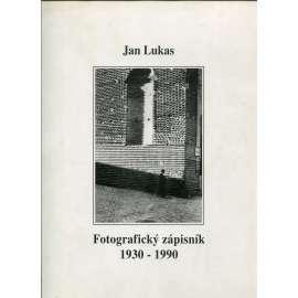 Jan Lukas. Fotografický zápisník 1930-1990 = Jan Lukas: Photographic Notebooks 1930-1990 [Výstavní síň Mánes, Praha, 8. srpna - 3. září 1995]