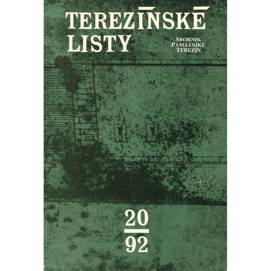 Terezínské listy 20/1992