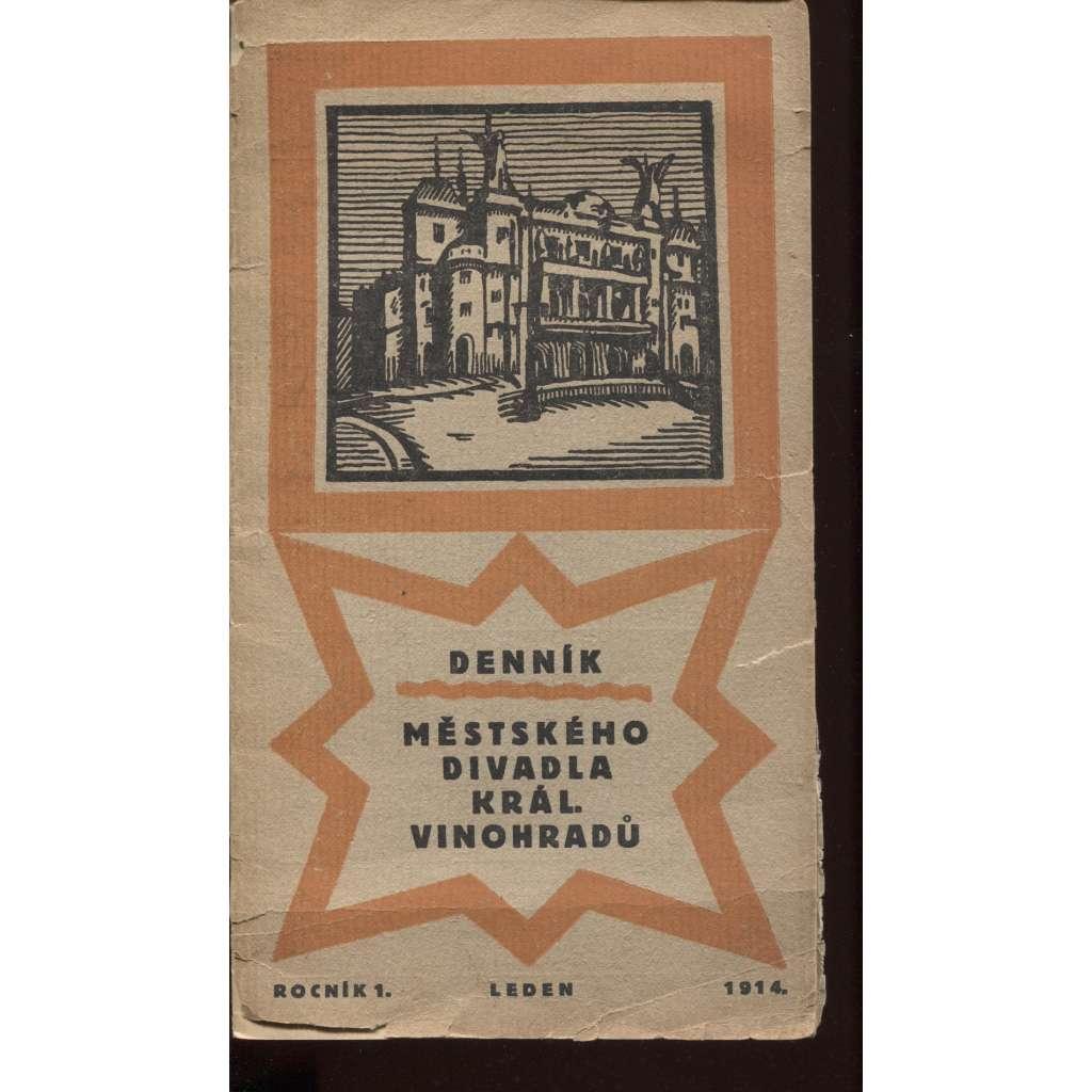 Denník městského divadla Král. Vinohradů, roč. 1., leden 1914 (Královské Vinohrady)