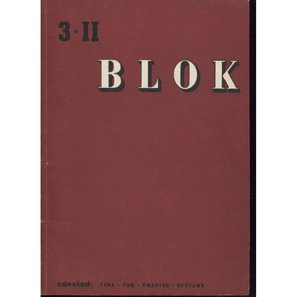 Blok - časopis pro umění, roč. II., číslo 3/1947. Odevšad: Čína, ČSR, Francie, Švýcary
