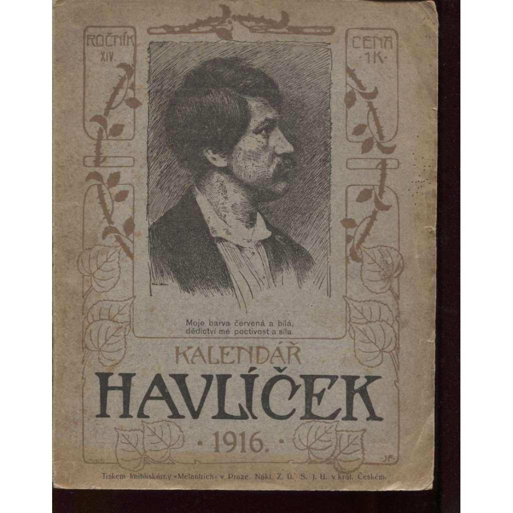 Kalendář Havlíček 1916