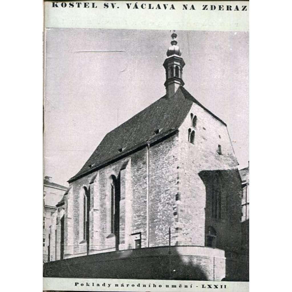 Kostel sv. Václava na Zderaze (Poklady národního umění 72)