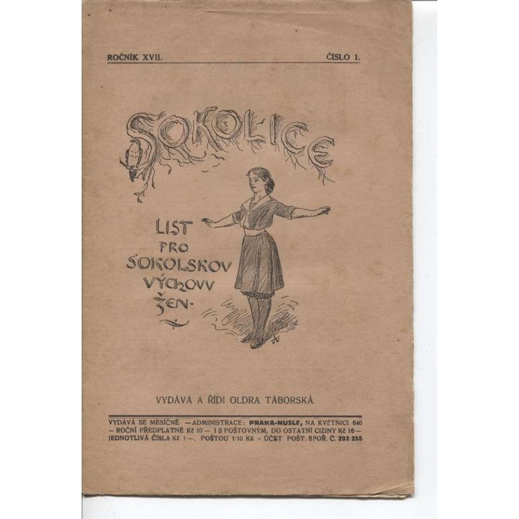 Sokolice. List pro sokolskou výchovu žen, čísla 1.-12., ročník XVII./1929 + 1 číslo, roč. XVIII./1930
