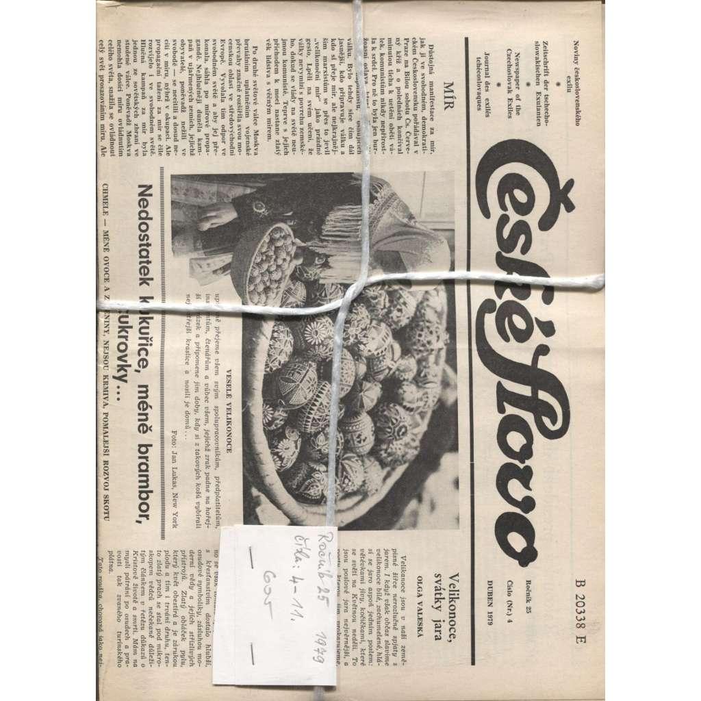 České slovo. Noviny československého exilu, ročník 25/1979, čísla 4-11 (Exil, Mnichov)
