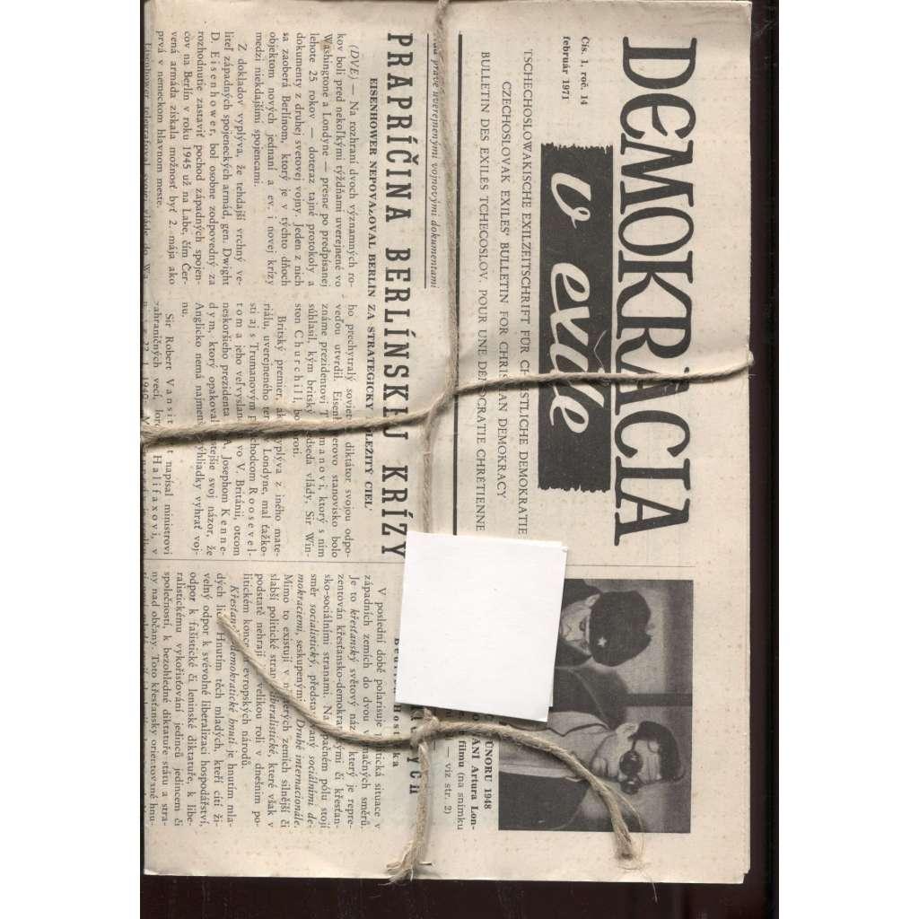 Demokracia v exile, ročník 14/1971, čísla 1 a 3 (exil)