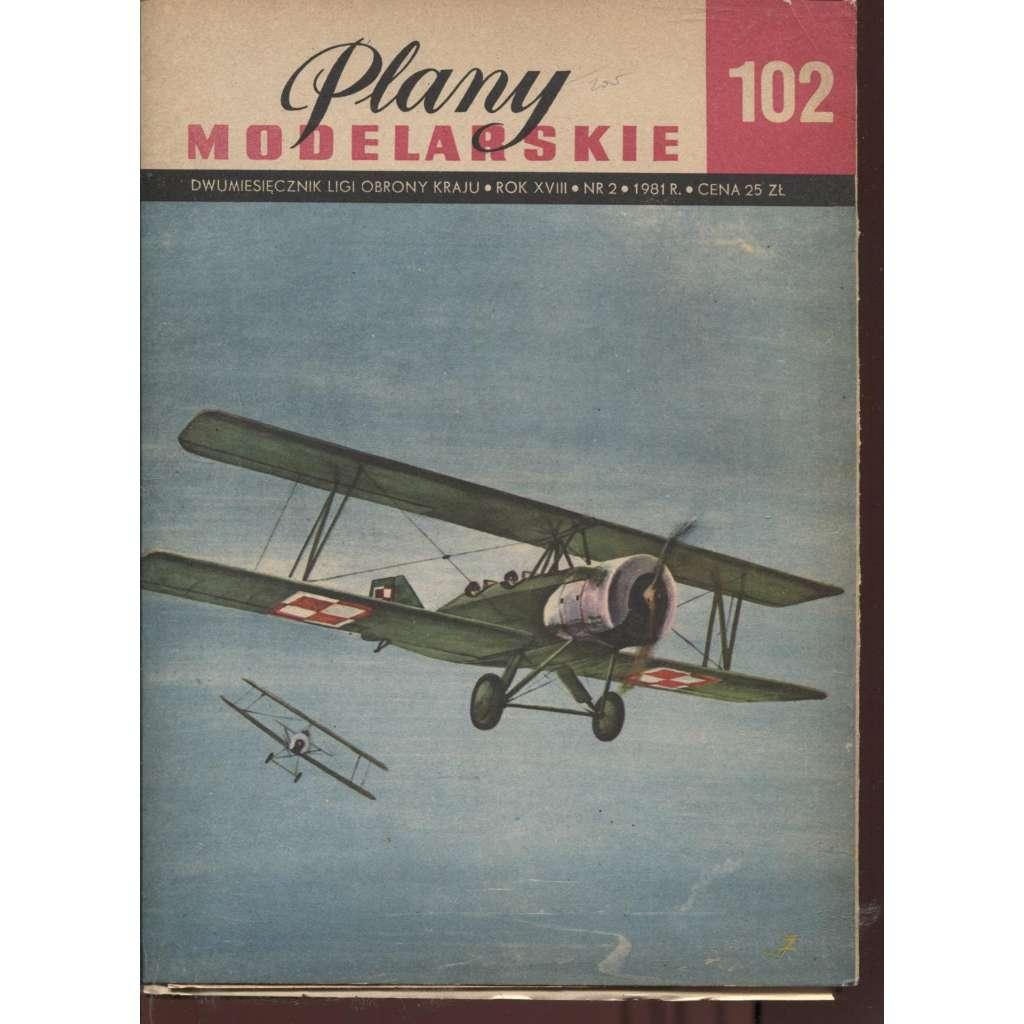 Plany modelarskie, ročník XVIII., číslo 102/1981 (Modelářské plány)