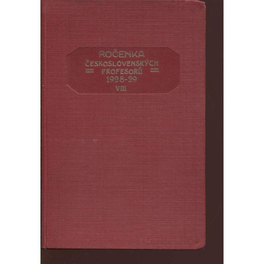 Ročenka československých prefesorů, školní rok 1928-29, VIII.