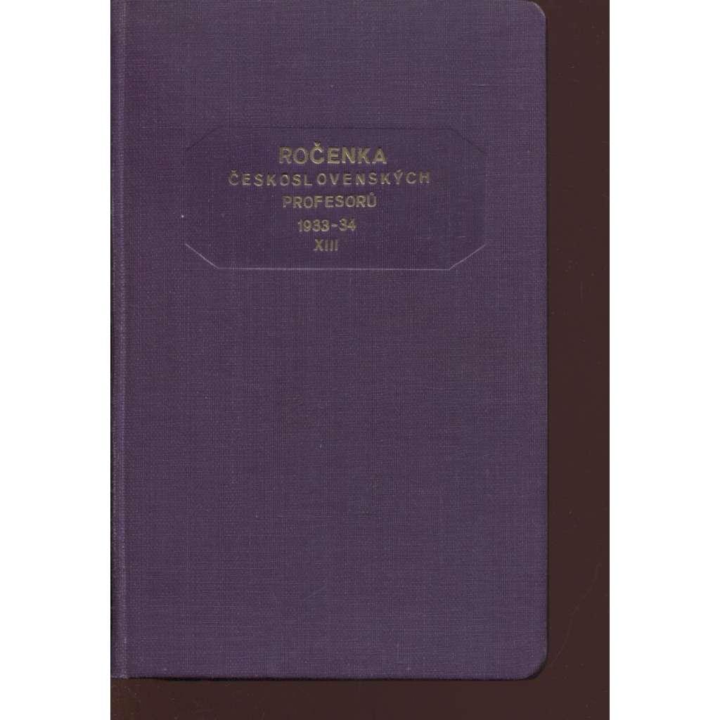 Ročenka československých prefesorů, školní rok 1933-34, XIII.
