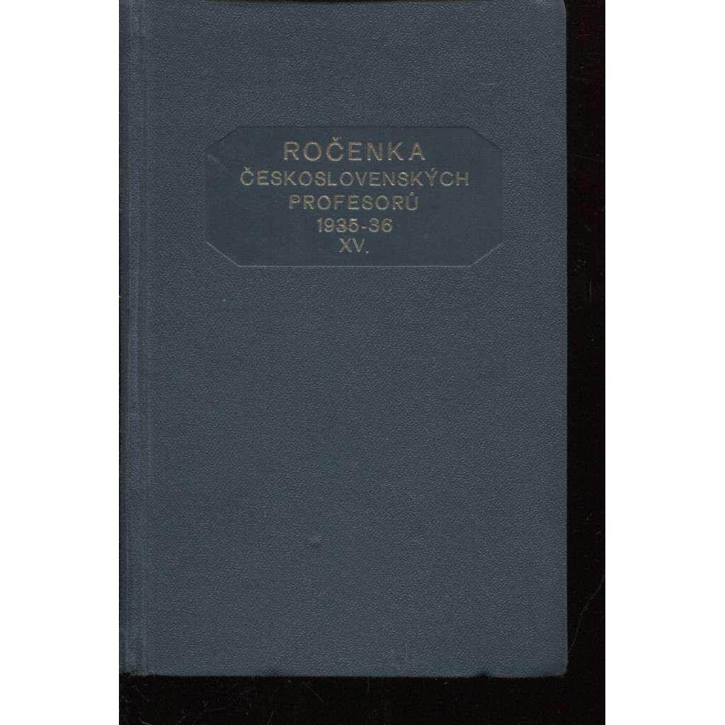 Ročenka československých prefesorů, školní rok 1935-36, XV.