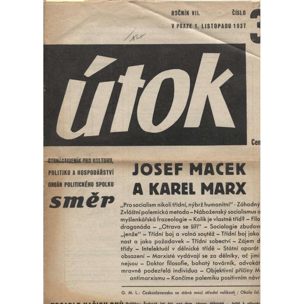 Útok, ročník VII., číslo 3/1937 (noviny 1. republika)