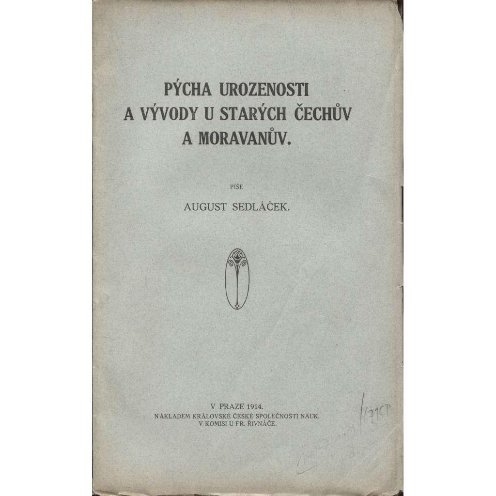 Pýcha urozenosti a vývody u starých Čechův a Moravanův
