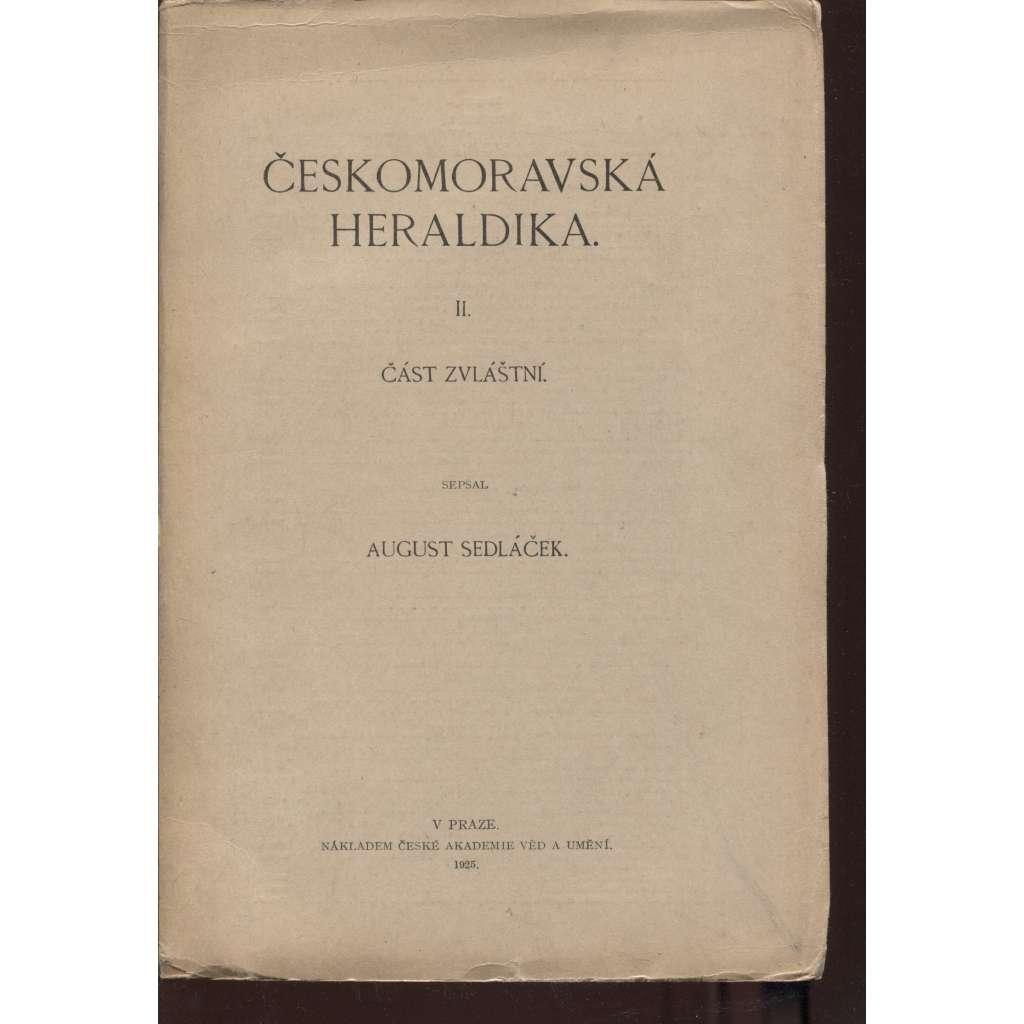 Českomoravská heraldika. II. Část zvláštní