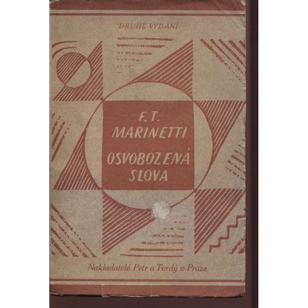 Osvobozená slova (2. vydání - Edice Atom VI - 1922) - obálka Josef Čapek