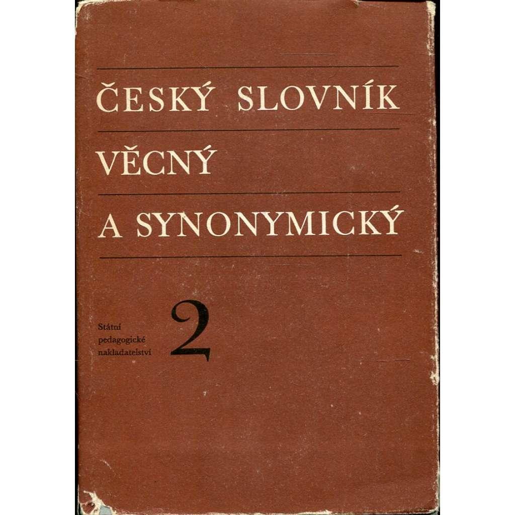 Český slovník věcný a synonymický II.