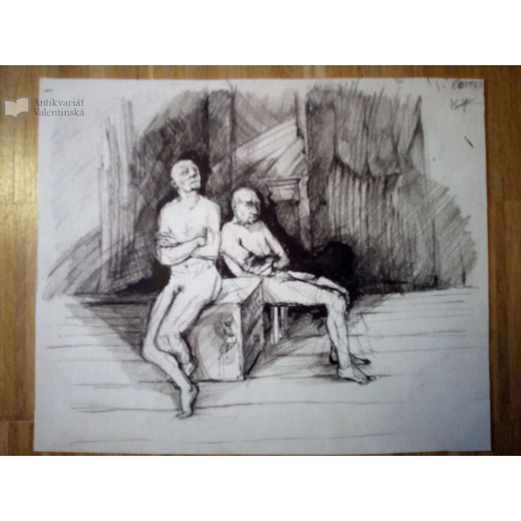 Symfonie (kresba, podpis F. X. Richter)