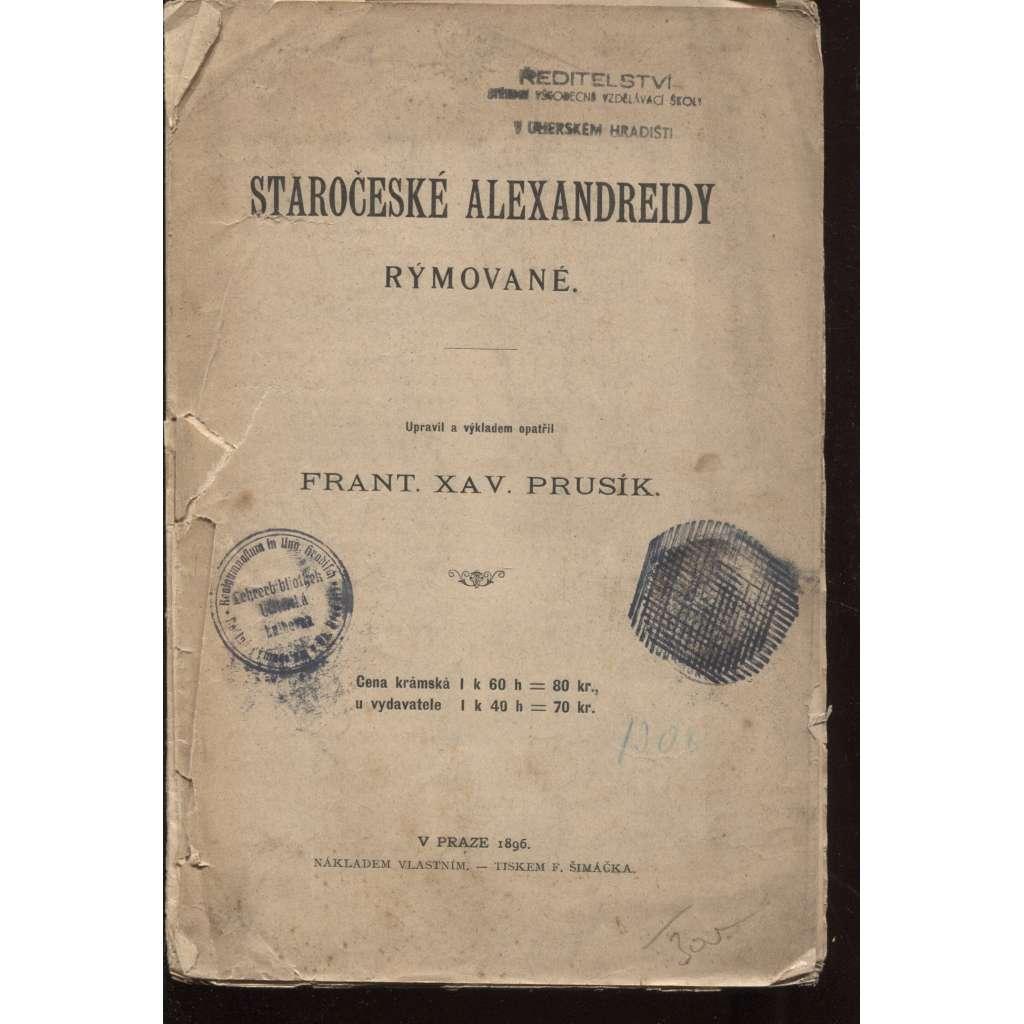 Staročeské Alexandreidy rýmované