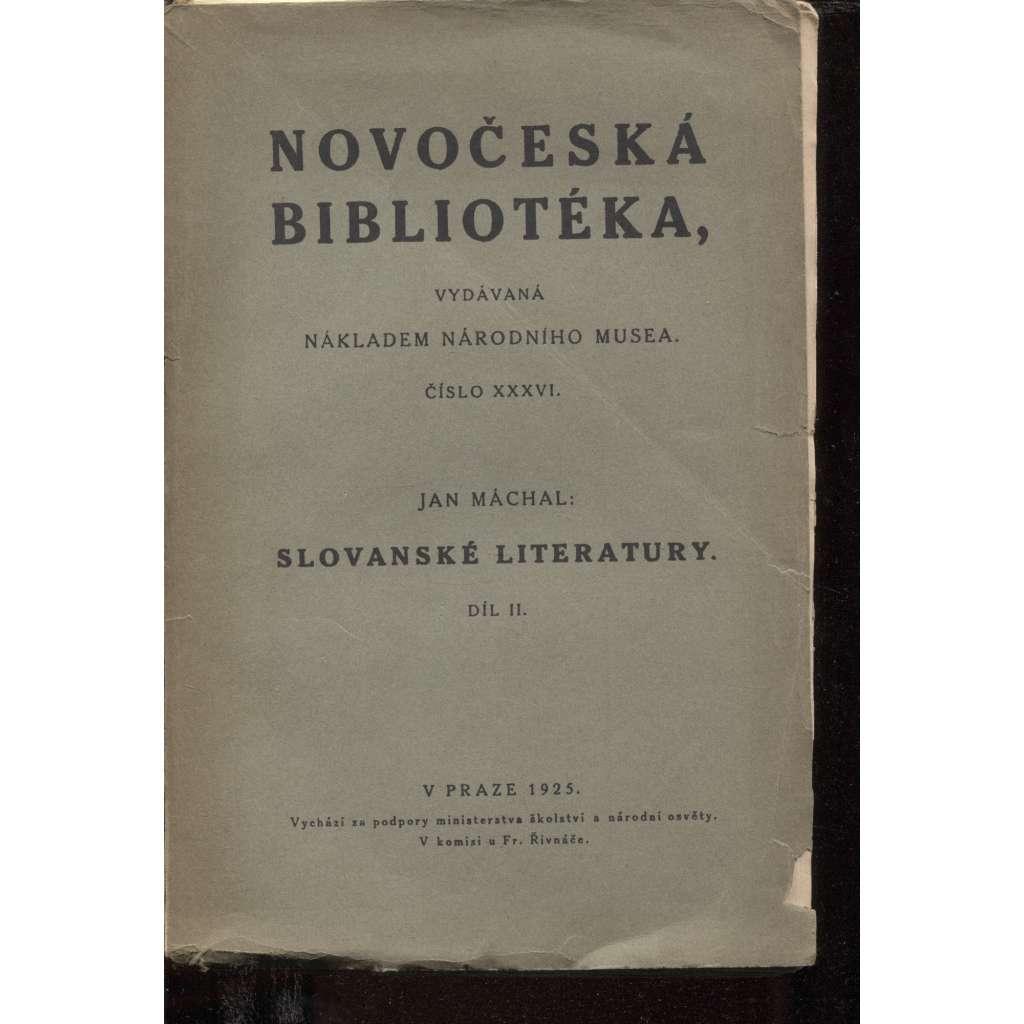 Slovanské literatury, díl II. (Novočeská bibliotéka)