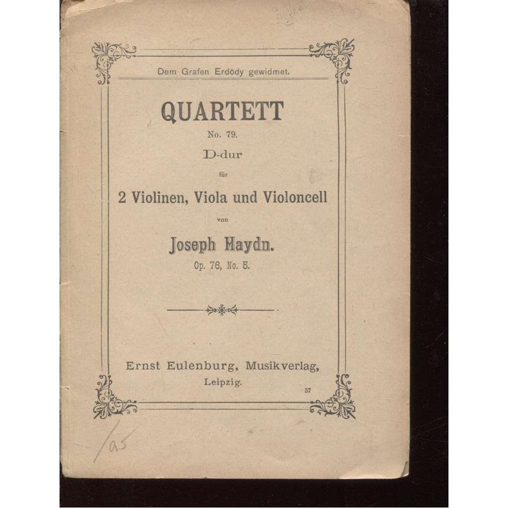 Quartett D-dur (housle, hudba, noty)