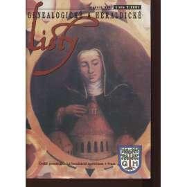 Genealogické a heraldické listy, ročník XXI., č. 2/2001