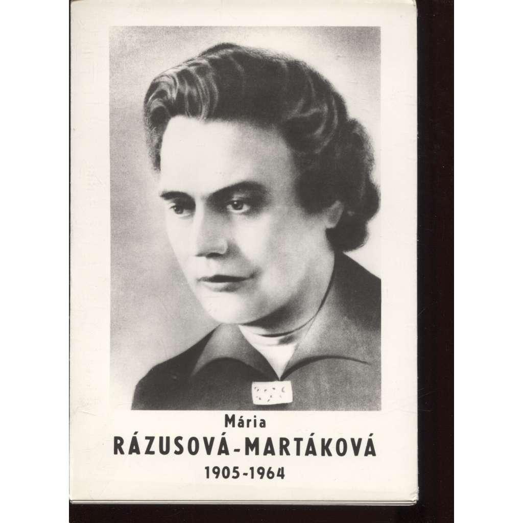 Mária Rázusová-Martáková (1905-1964) - text slovensky