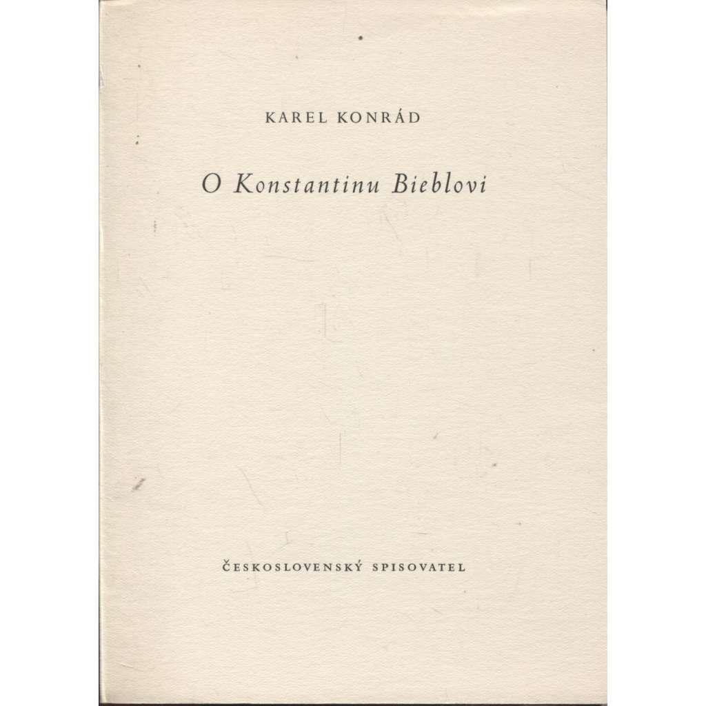 O Konstantinu Bieblovi (podpis Karel Konrád)
